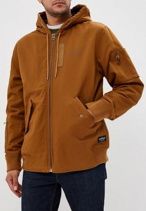 Куртка утепленная Quiksilver HANAGO. Цвет: коричневый