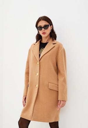 Пальто Boutique Moschino. Цвет: бежевый