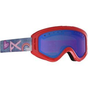 Детская сноубордическая маска Tracker Anon. Цвет: красный