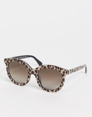 Солнцезащитные очки со звериным принтом Lillian-Черный цвет Kate Spade
