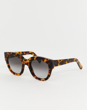 Черепаховые солнцезащитные очки кошачий глаз Cleo Monokel Eyewear. Цвет: коричневый