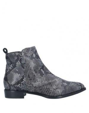 Полусапоги и высокие ботинки LORENA PAGGI. Цвет: свинцово-серый