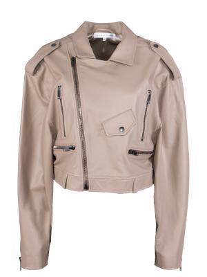 Кожаная куртка Alexander Terekhov. Цвет: бежевый