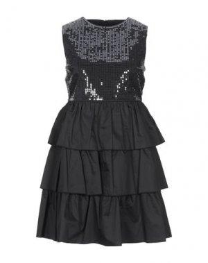 Короткое платье KAOS JEANS. Цвет: черный