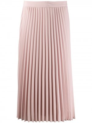 Плиссированная юбка миди Luisa Cerano. Цвет: розовый