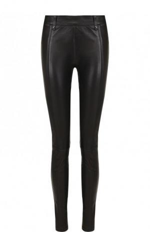 Укороченные кожаные брюки Tom Ford. Цвет: чёрный