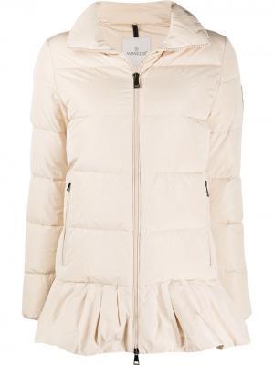 Расклешенная куртка-пуховик Brunec Moncler. Цвет: нейтральные цвета