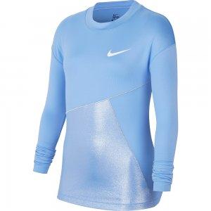 Pro Warm Top SS Nike. Цвет: голубой