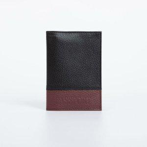 Обложка для паспорта, цвет бордовый/чёрный TEXTURA
