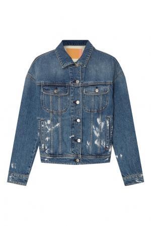 Синяя джинсовая куртка Blå Konst Acne Studios. Цвет: голубой