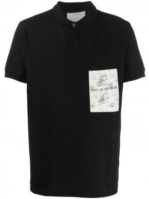 Рубашка-поло с вышитым логотипом Frankie Morello. Цвет: черный
