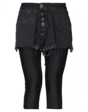 Джинсовые брюки-капри BEN TAVERNITI™ UNRAVEL PROJECT. Цвет: черный