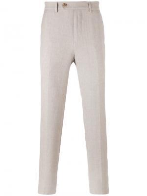 Классические брюки Brunello Cucinelli. Цвет: телесный
