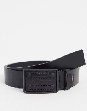 Ремень с квадратной пряжкой Versace Jeans-Черный Jeans Couture