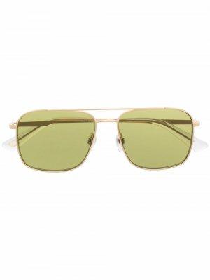Солнцезащитные очки DL0295 в квадратной оправе Diesel. Цвет: золотистый