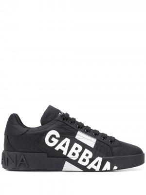 Кроссовки Portofino Dolce & Gabbana. Цвет: черный