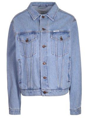 Куртка джинсовая с принтом Forte Couture. Цвет: разноцветный