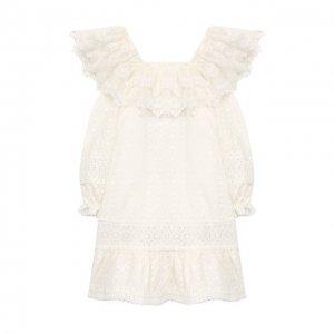 Платье Yudashkin Kids. Цвет: белый