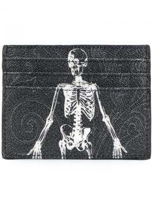 Skeleton print cardholder Etro. Цвет: чёрный