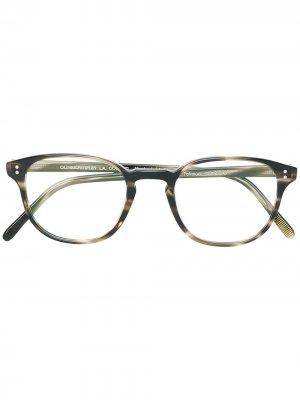 Fairmont square frame glasses Oliver Peoples. Цвет: коричневый