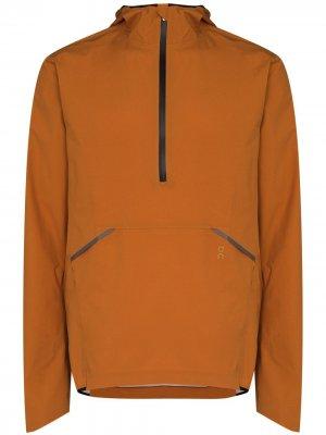 Half-zip hooded windbreaker ON Running. Цвет: оранжевый