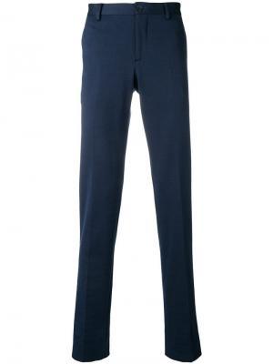 Классические брюки строгого кроя Etro. Цвет: синий