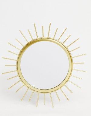 Зеркало в виде солнца -Золотистый Sass & Belle