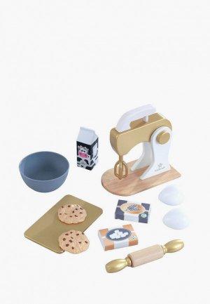 Набор игровой KidKraft техника для кухни Миксер выпечки Золото, 10 предмета в наборе. Цвет: разноцветный