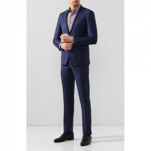 Шерстяной костюм Luciano Barbera. Цвет: синий