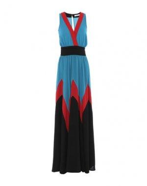 Длинное платье MANGANO. Цвет: лазурный