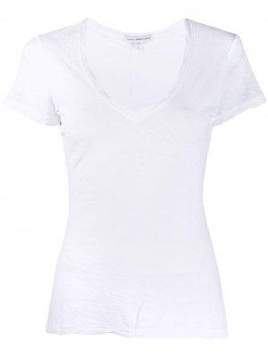 Однотонная футболка James Perse. Цвет: белый