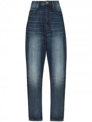 Расклешенные джинсы бойфренды с завышенной талией Isabel Marant Étoile. Цвет: синий