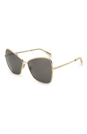 Солнцезащитные очки Celine Eyewear. Цвет: золотой