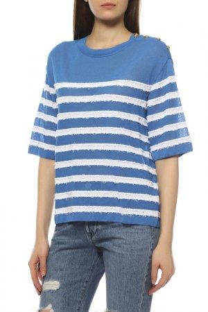 Пуловер Escada. Цвет: голубой, белый