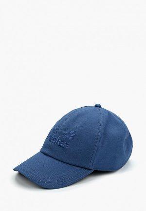 Бейсболка Jack Wolfskin BASEBALL CAP. Цвет: синий