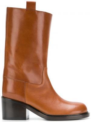 Ботинки до середины голени A.F.Vandevorst. Цвет: коричневый
