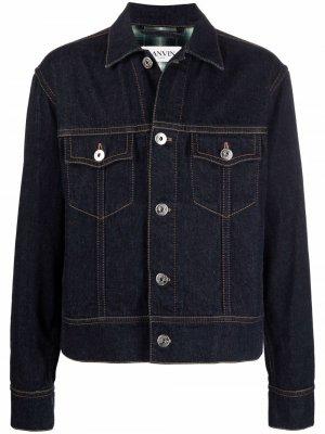Джинсовая куртка с логотипом LANVIN. Цвет: синий