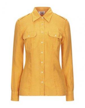 Pубашка GRAN SASSO. Цвет: абрикосовый