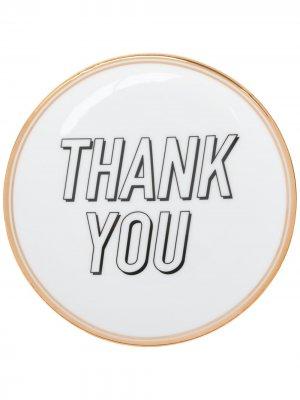 Тарелка Thank You Bitossi Home. Цвет: белый