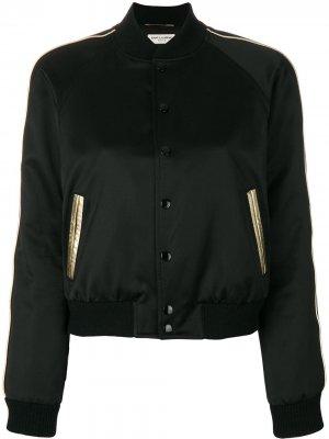Куртка-бомбер Saint Laurent. Цвет: черный