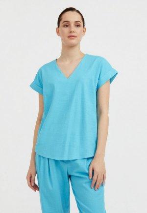Блуза Finn Flare. Цвет: бирюзовый