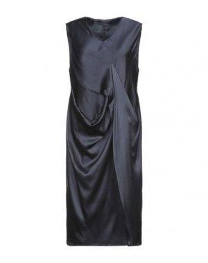 Платье до колена ANDREA TURCHI. Цвет: темно-синий