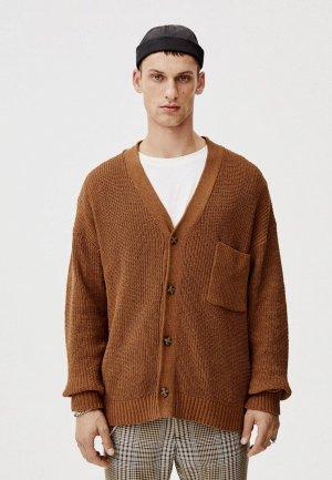 Кардиган Pull&Bear. Цвет: коричневый