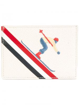 Визитница Skier Thom Browne. Цвет: телесный
