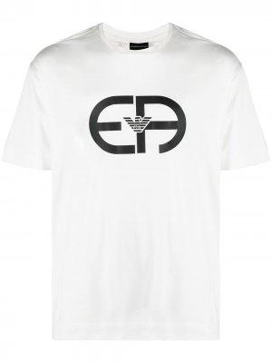 Logo-print T-shirt Emporio Armani. Цвет: белый