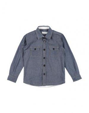 Джинсовая рубашка PAOLO PECORA. Цвет: синий