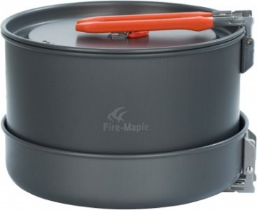 Набор посуды: 3 котелка, сковорода FEAST 5 Fire-Maple. Цвет: серый