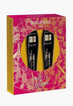 Набор для макияжа глаз Bourjois Тушь ресниц Twist up x2 шт, тон 52 Ultra Black, 8 мл. Цвет: черный