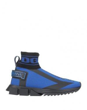 Кеды и кроссовки DOLCE & GABBANA. Цвет: ярко-синий