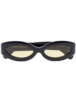Солнцезащитные очки Crepuscolo в оправе кошачий глаз Port Tanger. Цвет: черный